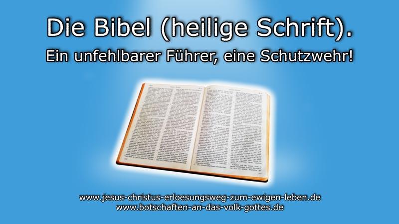 Die Bibel. Ein unfehlbarer Führer, eine Schutzwehr!