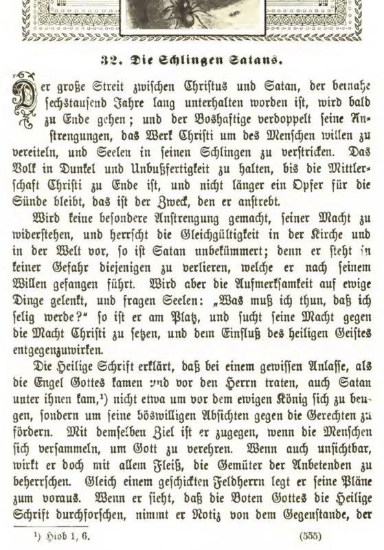 Ellen G. White, Der große Kampf – Ausgabe 1911